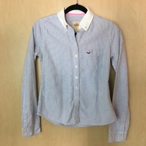 NWOT Hollister Soft  Button Down Long Sleeve Shirt